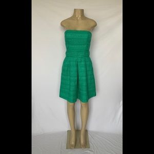 Banana Republic Size 4 Green Tweed Strapless Dress